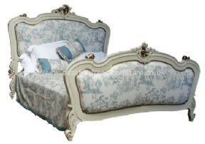 Rococo Upholstered French Bed Single